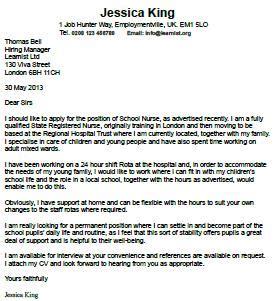 New Grad Nurse Practitioner Cover Letter Sample