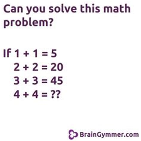 How to solve a math problem